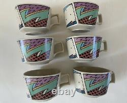 Vintage Rosenthal Studio Thé / Tasses De Café Flash Dorothy Hafner Set De 6