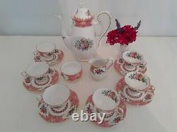 Vintage Royal Albert Lady Carlyle15 Pièce Café Set1950's Gilt Bordé