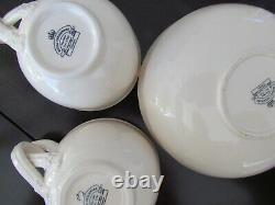 Vintage Royal Creamware -set De 4 Tea Cups & Saucers Coffee Cups Angleterre Leeds