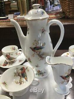 Vintage Royal Doulton Oiseaux Exotiques Café Set Vgc