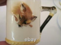 Vintage Royal Doulton Reynard The Fox Demitasse Coffee Set 19 Piece Nr
