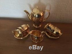 Vintage Royal Winton Grimwades Chine Angleterre Or Coffee Set