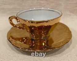 Vintage Rwk Rudolph Wachter Tea/coffee Set, Plaqué Or, Nice