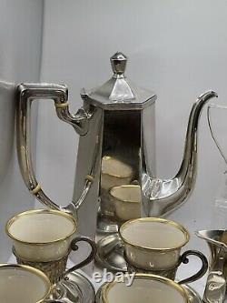 Vintage Saart Brothers /ssmc Thé Sterling, Café, Ensemble De Chocolat, Lenox, 596g