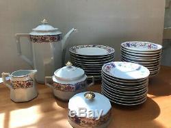 Vintage Schonwald Oremont Bavière Allemagne 1927 Service À Café En Porcelaine Psaa