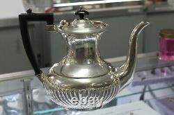 Vintage Service De Café Sheffield Plaqué Argent (let De 5) Prix Inscrivé 30% Off