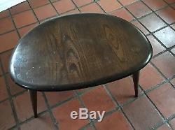 Vintage Set Nest Of 3 Ercol Pebble Side Tables Table De Café En Bois Foncé English