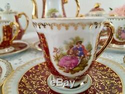 Vintage Set Porcelaine De Limoges Café, Porcelaine, Décor Fragonard, France