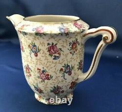 Vintage Set R&co Limoges France Pink Chintz Floral Coffee/tea Set Withtray -19 Pcs