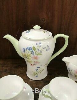 Vintage Shelly Fine Bone English China Tea / Set Trioste Anemone 13977