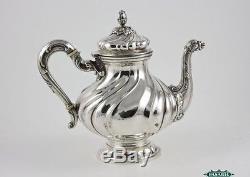 Vintage Silver 5pcs Tea Coffee Service Set On Bandeau Alessandria 1950
