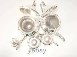 Vintage Silver Plate Tea Set Cafe Service Set Bsc Birmingham Silver Co Argent