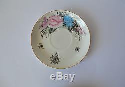 Vintage Soviétique Lomonosov Bone China Tea Ussr Set De Café En Porcelaine 15 Pces