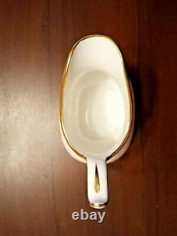 Vintage Spode Bone China White & Gold Demitasse Flat Coffee Set Vers 1970-1980