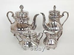 Vintage Thé En Porcelaine Et À Café, Allemagne Hutschenreuther En Argent Sterling