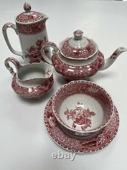 Vintage Thé Rouge / Café Set Spodes Camilla Copeland
