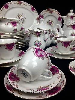 Vintage Thun Tchécoslovaquie Chine Service De Table / Service À Thé / Service À Café / Rose