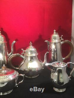 Vintage Tiffany Co Solid Silver Ensemble De Thé Et De Café Cinq Pièces Londres 1969