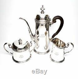 Vintage Tiffany & Co Sterling Silver 3 Piece Set Café, Avec Le Monogramme # 6271