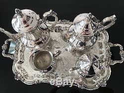 Vintage Towle Silverplate 5 Pièces Ensemble De Service De Café / Thé