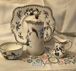 Vintage Tuscan Usine Chine 40 Piece Tea & Coffee Set, Bird Of Paradise