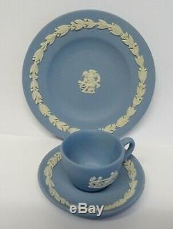 Vintage Wedgwood Miniature Jasper Ware Thé / Café Set For One