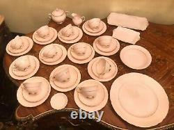 Vtg 12 Tasses, Soucoupes N Plaques Toscane Fin Anglais Bone Rose Porcelaine Set Café