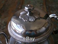 Vtg Christofle Perles Art Déco French Silverplate Set De Thé Et De Café En Argent