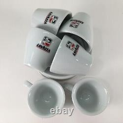 Vtg Lavazza Espresso Coffee Set De 6 Tasses/soucoupes Collection Ipa Made In Italy