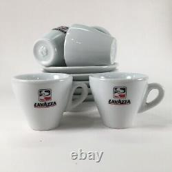 Vtg Lavazza Espresso Coffee Set Of 6 Tasses/soucoupes Collectible Ipa Made In Italy