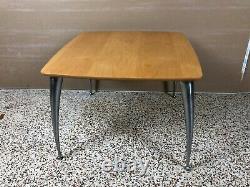Vtg Modern Set De 3 Tables Coffee Side Blonde Wood Space Age Bdi Becker Conçu