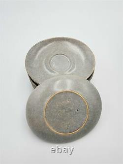 Vtg Raymor Par Roseville Swinging Coffee Pot 8 Cup/saucer Sets 1952-54 Ben Seibel