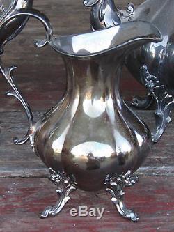 Vtg Set Reed & Barton Winthrop 1795 Silverplate Ensemble Café-thé-sucre-crème