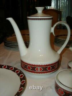 Vtg Ukrainian Design Winterling Schwarzenbach Bavaria Allemagne Coffee Tea Set