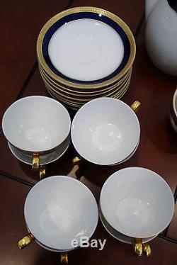 Vtg. Verbano Industria Argentina Ensemble De Café Et De Thé En Porcelaine 36 Pièces