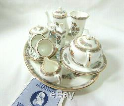 Wedgwood Miniature Plateau Set Kutani Anglais Crane Porcelaine Vintage 15pcs
