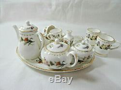 Wedgwood Miniature Tea Set Café Mirabelle 18 Pcs Porcelaine Chine Vintage