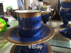 Wedgwood Rare Vintage Tea Set De Café, 4 Tasses, Soucoupes, Cruche De Lait, Sucre Et Café