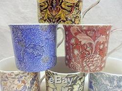 William Morris Vintage Designer Chine Palais Café Thé Tasse Boisson Tasse Coffret